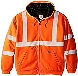 Carhartt Men's High Visibility Class 3 Thermal Sweatshirt,Brite Orange,X-Large
