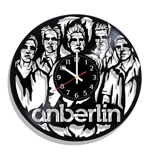 BombStudio Anberlin Vinyl Record Wall Clock, Anberlin Handmade for Kitchen, Office, Bedroom. Anberlin Ideal Wall Poster
