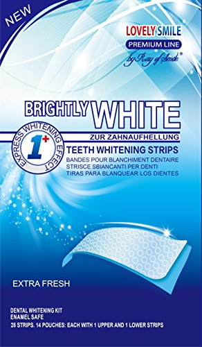 Lovely Smile Bright White-Strips 28 Bandas Blanqueadoras Dientes Blanqueamiento de dientes tiras con avanzada tecnología antideslizante - Teeth Whitening Strips - by RAY OF SMILE®