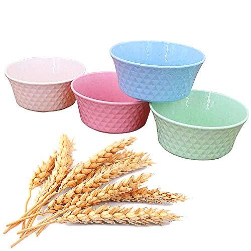 Umweltfreundliche Müslischale, FANDE Unbreakable Cereal Bowls, Salatschale Groß 4er Set, Müslischüssel Dessertschale Snackschale für Müsli, Salat, Suppe, Nudel
