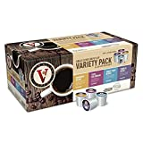 Victor Allens Variety Pack Coffee 24-Each of Morn Blend, Donut Shop, 100% Colombian and French Roast (96 Single Serve Cups per Case)