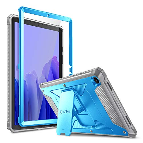 Fintie Shockproof Case for Samsung Galaxy Tab A7 10.4'' 2020 Model (SM-T500/T505/T507), Rugged Unibody Hybrid Full Protective Bumper Kickstand Cover with Built-in Screen Protector, Blue