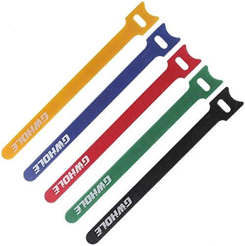 GWHOLE Confezione da 60 Pezzi Riutilizzabile Fascette di Chiusura con Cinghia per la Lunghezza Corda per Computer Portatile, PC, TV
