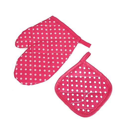 Oure Juego de Cocina y horneado para niños, vajilla Funcional, Juguetes de Cocina, Rojo y Azul para Cocina para Mayores de 3 años(Punto Rojo, Azul)