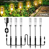 GreenClick LED Path Lights, Outdoor Pathway Lights Extendable Garden Lights Acrylic Warm Bubble Lights 12V Low Voltage Waterproof Landscape Lights for Lawn Patio Yard Walkway Driveway(22.16FT, 6 PCS)