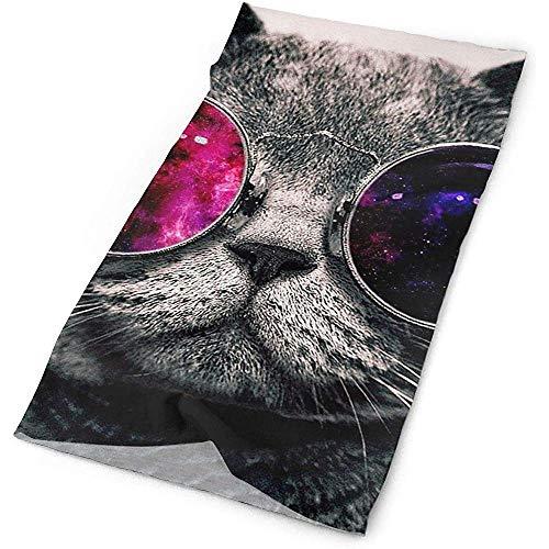 Bandeau anti-UV anti-transpiration Bandana Neck Guêtre Balaclava Headband - Cool Personality Cat Kitty Patterned