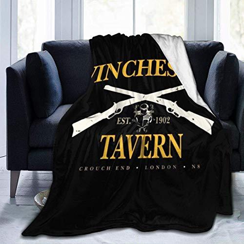 jichuang Winchester Tavern Crouch End Shaun von The Fleece Flanell-Decke Leichte Ultrasoft Warmbettdecke Fit Sofa Geeignet 50 * 60