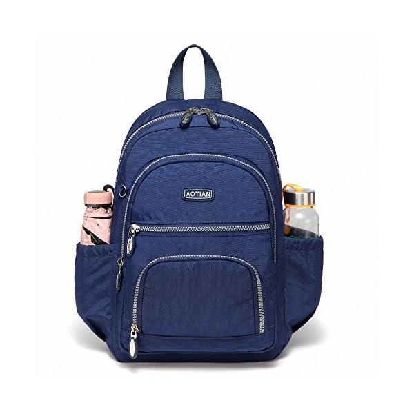 51UwsOPvPNL. SS600  - AOTIAN Mujer Peso Ligero Mochilas de Casual Juveniles Bolsas Escolares Bolsa de Uso Diario 9 litros Azul