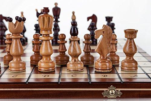 Präsident - große 45cm/17,8 In Handarbeit aus Holz Schachspiel Kirschbaum