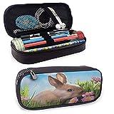 XCNGG Bolsa de bolígrafos de almacenamiento grande con cremallera de Pascua, para bolígrafos, lápices, resaltadores, bolígrafos de gel, marcadores, borrador, útiles escolares, multicolor