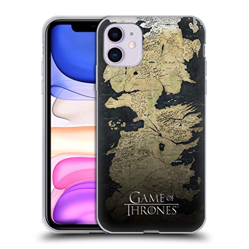 Head Case Designs Officially Licensed HBO Game of Thrones Westeros Map Key Art Soft Gel Case Compatible with Apple iPhone 11