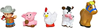Fisher-Price Little People Animal Friends Farm Figures - Farmer, Pig, Chicken, Cow, and Horse