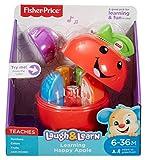 Fisher-Price- Baby Mela Impara con Me, Insegna la Frutta, i Numeri e i Colori, dai 6 Mesi, DYY28