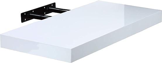 Edaygo Wandboard Wandregal B/ücherregal H/ängeregal Regal Freischwebend aus Holz wei/ß 50 x 23,5 x 3,8 cm