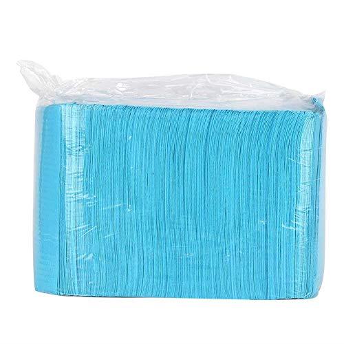 Estera de mesa para decoración de uñas de 125 piezas, almohadilla de mano de manicura plegable desechable, herramienta de manicura de almohadilla de soporte de mano impermeable(azul)
