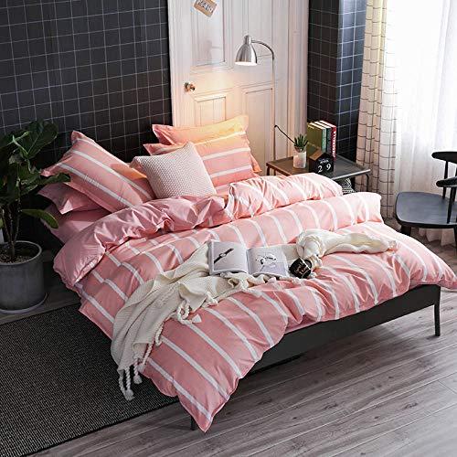 Bettbezug Set Bettwäsche-Set Rosa Romantik Super Weiche Atmungsaktive Mikrofaser 3-teiliges Set (1...