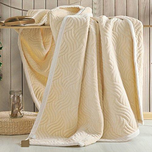 Couvertures Wddwarmhome de Couleur de de Chambre à Coucher de de de Couleur crème Douce et Confortable Quatre Saisons Disponibles (Taille : 180 * 200cm)