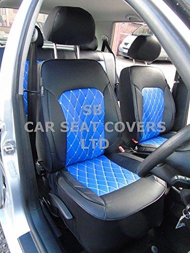 R – Adecuado para Nissan Navara coche, fundas de asiento, color azul diamante Rossini, juego compl