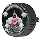 Josid 2PCS Dog Unicorn with Donut Car Accessories Car Air Freshener Aromatherapy Diffuser Car Vent Clip Gift Decorations 40mm