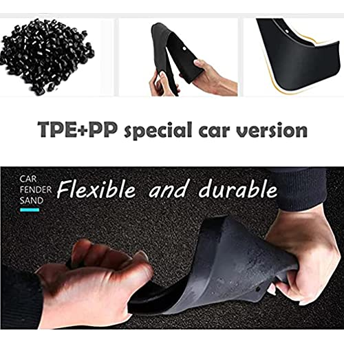 4pcs Car Guardabarros, para Delantero Trasero contra Salpicaduras Mud Flaps Mudguards Guard Kit, Auto Styling Accessories