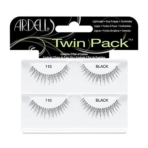 ARDELL Twin Pack Lash 110, Eye-lashes black (2 Paar) (1x) wiederverwendbare ulraleichte künstliche Wimpern aus Echthaar