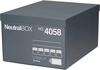 キングジム 収納ボックス 収納箱 ニュートラルボックス XL グレー 4058クレ