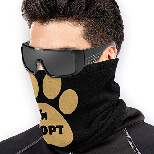 NA Niet Winkelen, Adopteer Hond. Microfiber Polyester Naadloos Winddicht Bandana & Gezichtsmasker & Nek Warmer Gaiter Shield - voor Unisex