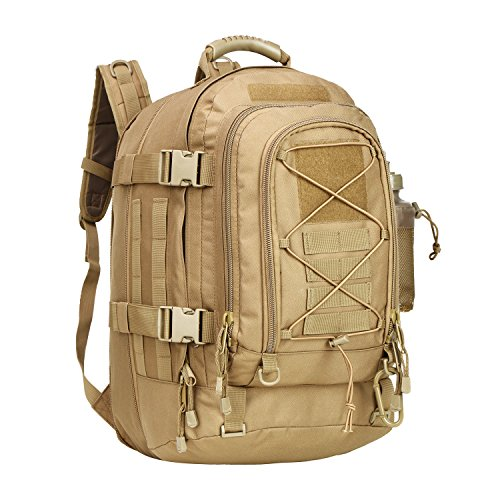 PANS Backpack for Men Large Military Backpack Tactical Waterproof Backpack for Work,School,Camping,Hunting,Hiking(TAN)