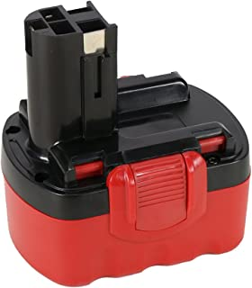 POWERAXIS 14.4v 2000mAh Ni-CD Real Capacity Battery Replacement for Bosch BAT038 BAT040 BAT041 BAT140 BAT159 2607335685 Cordless Tools(Red&Black)
