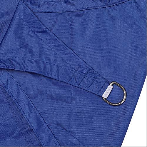 LHJY Vela De Sombrilla Triangular Azul Anti-Ultravioleta, Vela De Sombrilla Impermeable, Utilizada para El Campo De La Terraza De La Terraza Y La Personalización De Soporte Al Aire Libre(Size:4×4×4m)