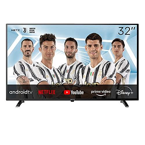METZ Android 9.0 Pie TV Serie MTC6000, LED Direct, HD 1366x768, 32  (81 cm), HDMI, ARC, USB, Slot CI+, Dolby Digital, DVB-C T2 S2, HEVC MAIN10, Google Assistant, Nero [Efficienza energetica classe F]