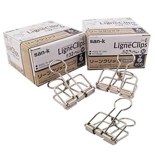 サンケーキコム リーンクリップ M LC-M20 10個入×2箱 シルバー