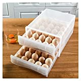 Caja De Almacenamiento De Bandeja De Huevos De Doble Capa - Caja...