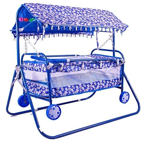 BabyGo Baby Cradle Cot and Stroller Blue