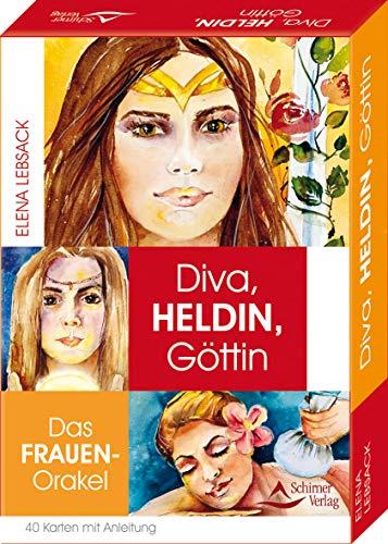 Diva, Heldin, Göttin- Das Frauen-Orakel Kartenset: - 40 Karten mit Anleitung