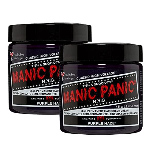 MANIC PANIC Purple Haze Hair Dye Classic 2 Pack