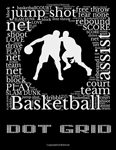 DOT GRID basketball block play: Thisbook dot grid journal  8.5x11 inches 120 pages Notebook  for writing, drawing ,sketching /Dotted paper book, basketball block play