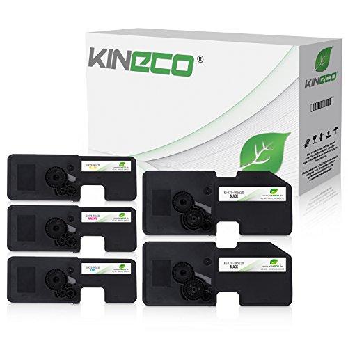 5X Toner von Kineco ersetzt TK5230 Multipack für Kyocera Ecosys M5521cdn M5521cdw