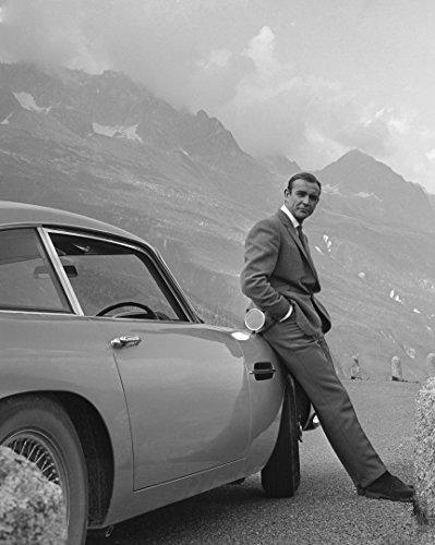 Eddy's Entertainment Sean Connery 1964'Goldfinger Promotional Still Aston Martin DB5 James Bond 8x10 Silver Halide Archival Quality Reproduction Photo Print