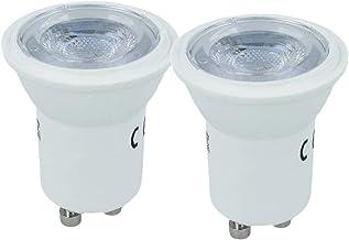 LEDLUX 10 stuks Led-lampen Minivlek GU10 Kleine diameter 35 mm 2W 38 ° Satijn 5 jaar garantie (4000K)