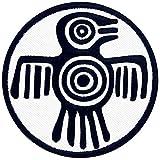 Símbolo azteca de fuerza de poder y coraje Parche Bordado de Aplicación con Plancha