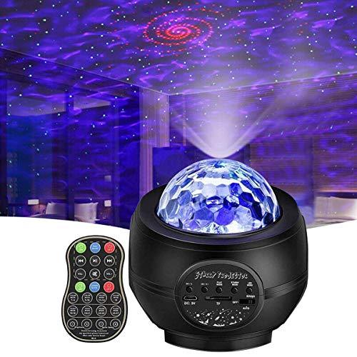 Star Night Light Projector, Vinkki Nebula Galaxy Projector LED Star Light Ocean Wave Projector with Bluetooth Speaker for Baby Kids Bedroom Party Home Holidays Night Light Ambiance