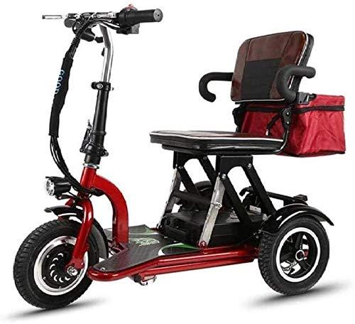 PARTAS Sightseeing/Commuting Tool - Ältere Freizeit Elektro-Dreirad Folding Elektro-Fahrrad, kann gedreht werden, um 360 ° Intelligent Drei-Speed Shift an der richtigen Stelle, Ausdauer 30 Kilomet
