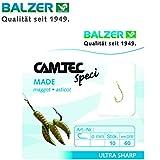Balzer Camtec Maden Haken 60cm - 10 gebundene Angelhaken zum Friedfischangeln & Forellenangeln,...