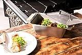 Willys-Fachmarkt Dünst- und Warmhaltebox Warmhaltebehälter aus Edelstahl mit Deckel und abnehmbaren Griffen aus FSC Buchenholz - Warmhaltebox für Essen - Ideal auch für die Gastronomie