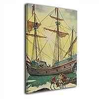 アートフレーム アートパネル 船舶 現代壁の絵 壁掛け式の装飾画 壁アート 木製 インテリアアート 額縁なし ポスター 部屋飾り ウォールアート モダン 30x20cm