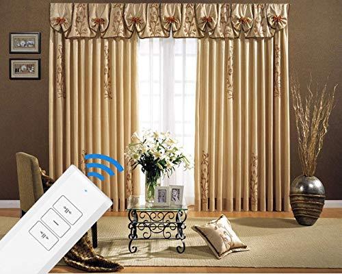 SimpleSmart - Motorized DIY Electric Curtain Tracks, Electric Drapery System, Electric Curtain Tracks (7 to 20 feet), DIY Length by Cutting Short, Power Curtain Tracks (4M (158'))