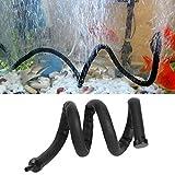 Acuario Barra de burbujas de aire de plástico flexible pared difusor de aire tanque de peces piedra de liberación de burbujas de oxígeno difusor de barra (45 cm)