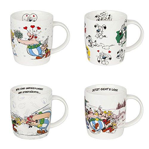 Könitz Becher Kaffee Becher Serie Asterix Set 4 teilig