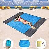 Delee - Couverture de plage sans sable - Séchage rapide - En nylon indéchirable - Compact - Tapis...